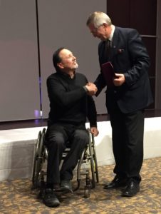 2017 Community Recognition Award from the City of Winnipeg's Access Advisory Committee is presented to RBC Convention Centre President & CEO Klaus Lahr